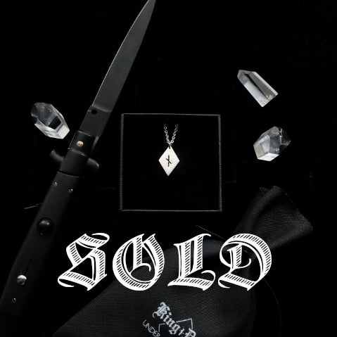 Image of NAUTHIZ DIAMOND. KING DUDE COLLAB. 13/13 ↟ recycled sterling silver. w/ pouch & card signed by KD