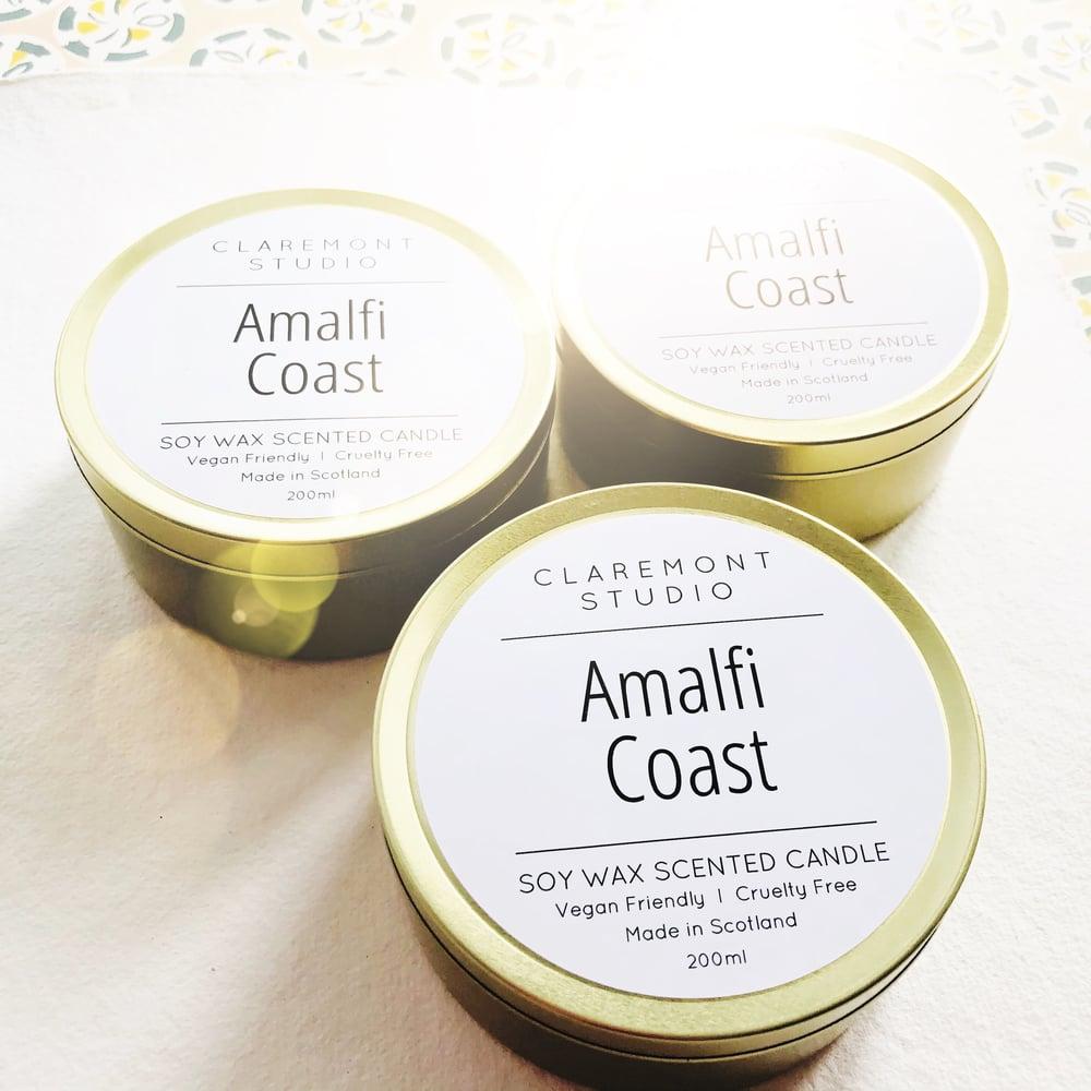 Image of Amalfi Coast Large Gold Travel Tin Candle