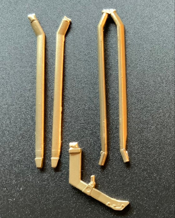Image of Fokker DR.I Triplane brass undercarriage struts for the 1/24 Meng kits