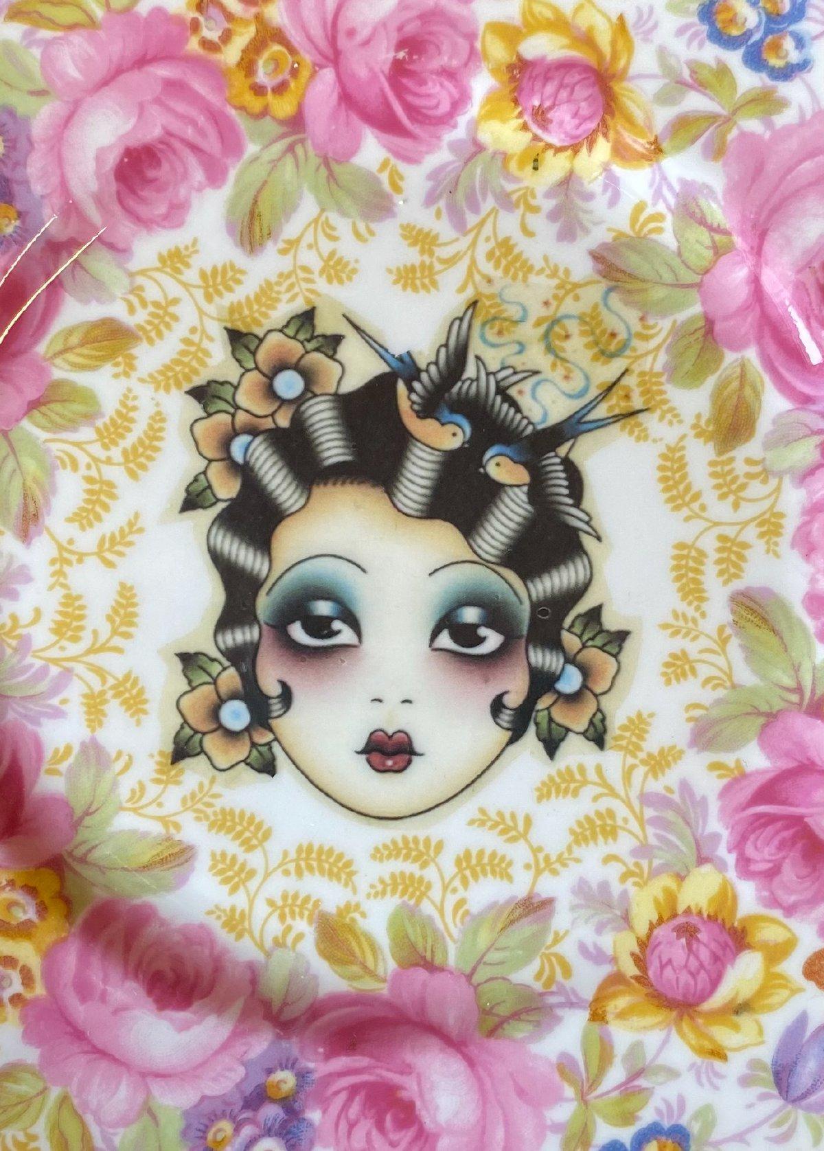Pink Flower Girl Card