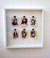 6  petite Portraits in Purple and yellow by Kyla Bourgh
