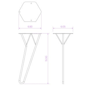 Image of Architectural Table Legs | Black