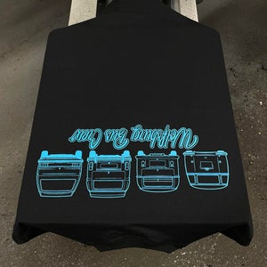 Image of  WBC 2021 Black T-Shirt with Electric Blue Chest and Extra Large Shoulder Print