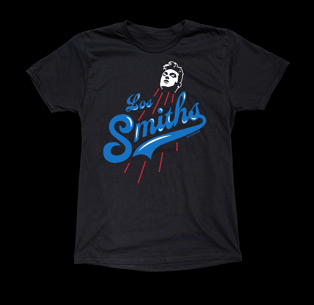 Image of 3 COLOR L.A.  SMITHS BASEBALL BLACK TEE
