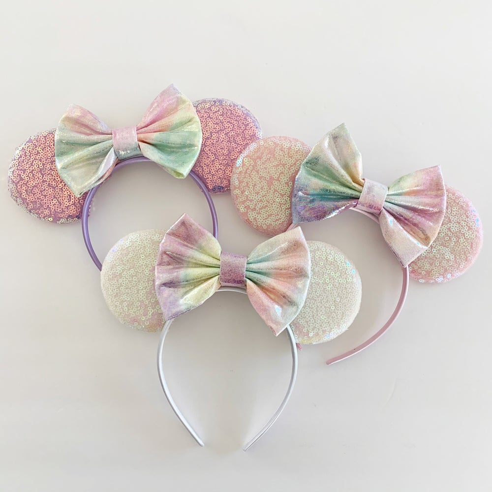 Image of Iridescent Tie Dye Mouse Ears
