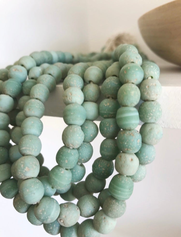 Image of Soft Green Glass Beads