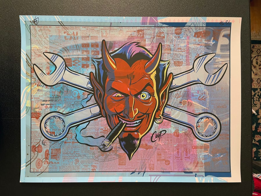 Image of TEST PRINT TUESDAY #5 Wrench Devil