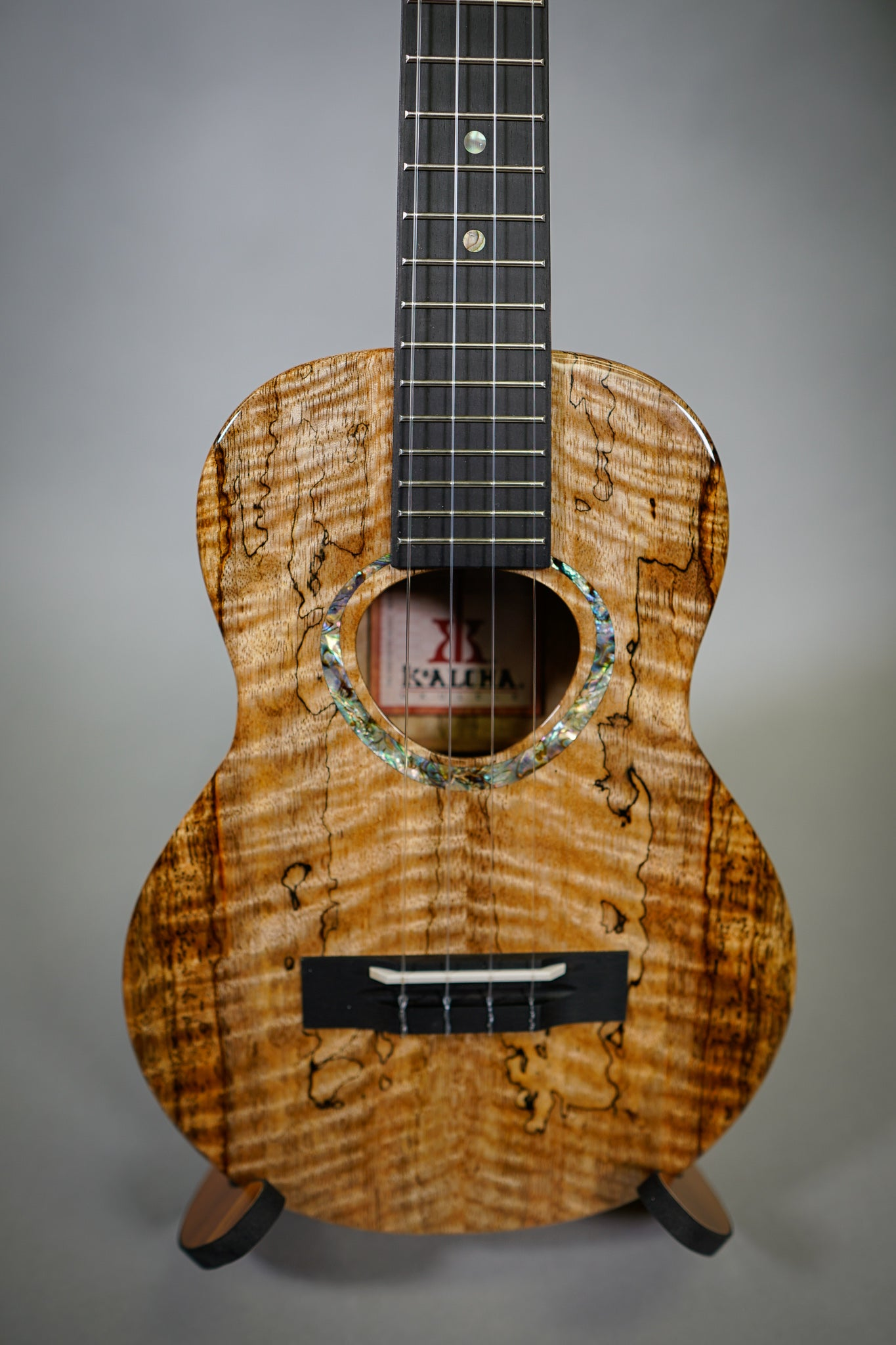 Image of KoAloha KTMR-00 Spalted Curly Mango Rosette Custom Tenor