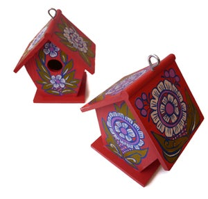 Image of Hand Painted Bird Houses