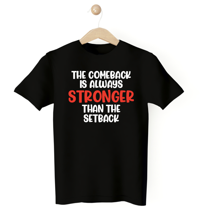 Fitted Black Shirt - The Comeback Tee