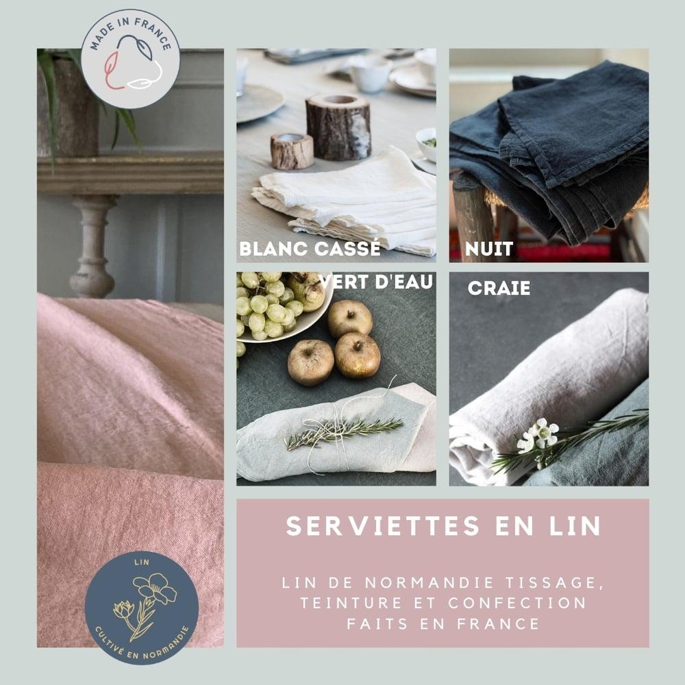Image of Serviettes de table en lin 100% français