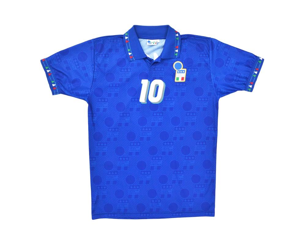 Image of 1994 Diadora Italy Home Shirt 'Baggio 10' M