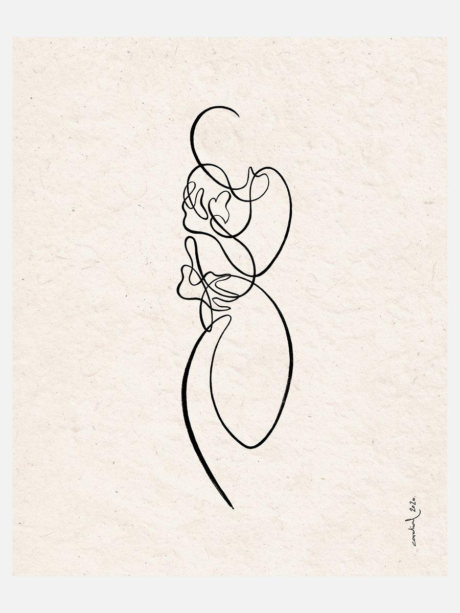 "Image of Fine Art Print ""MOTHERHOOD""  (40 x 50 cm)"