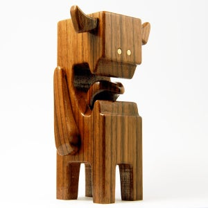"Image of WALNUTI - 4"" Wood Designer Toy"
