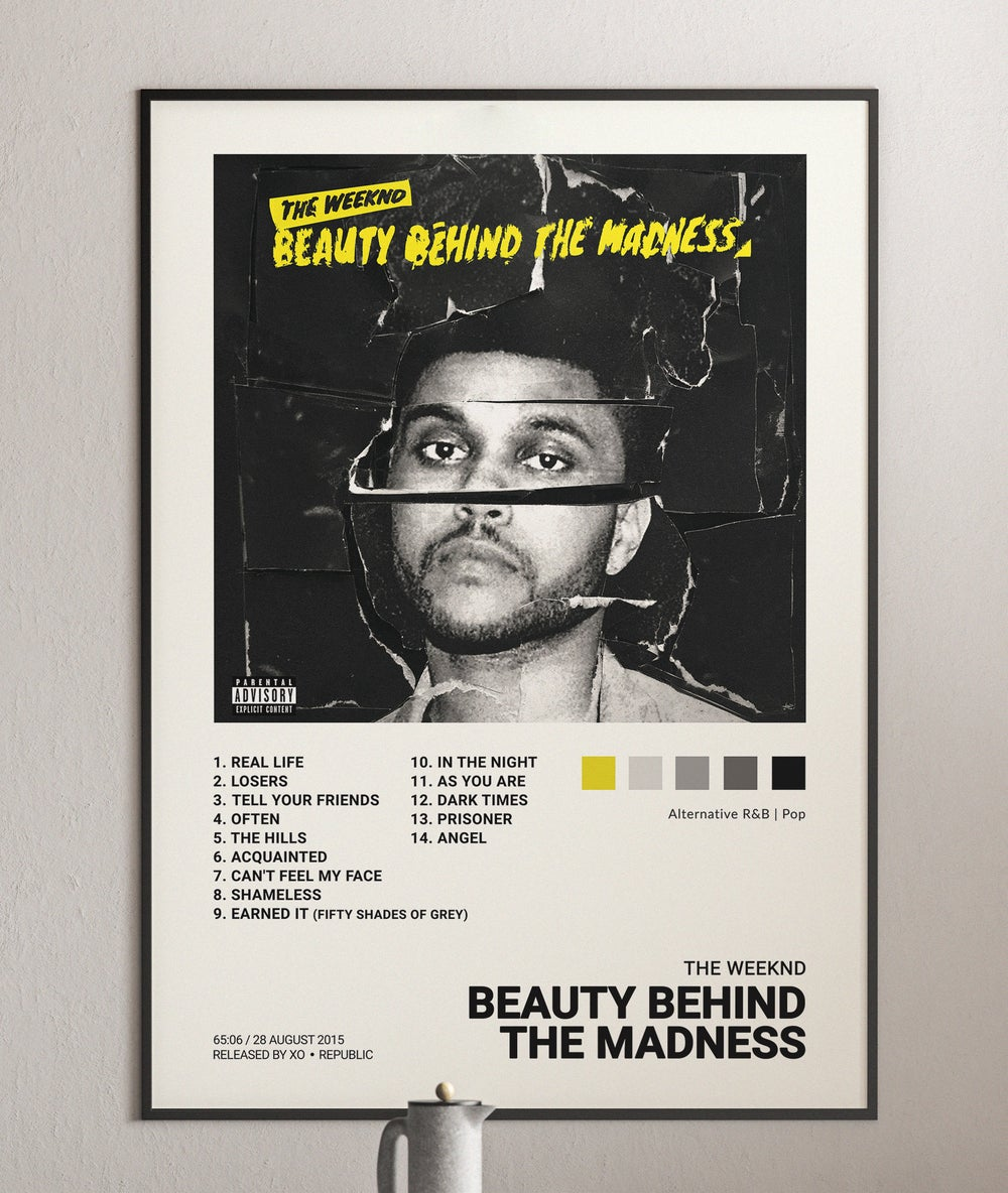 Weeknd - Beauty Behind the Madness Album Cover Poster