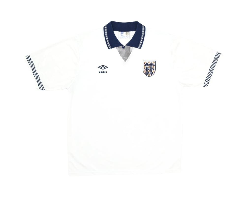Image of 1990-92 Umbro England Home Shirt L