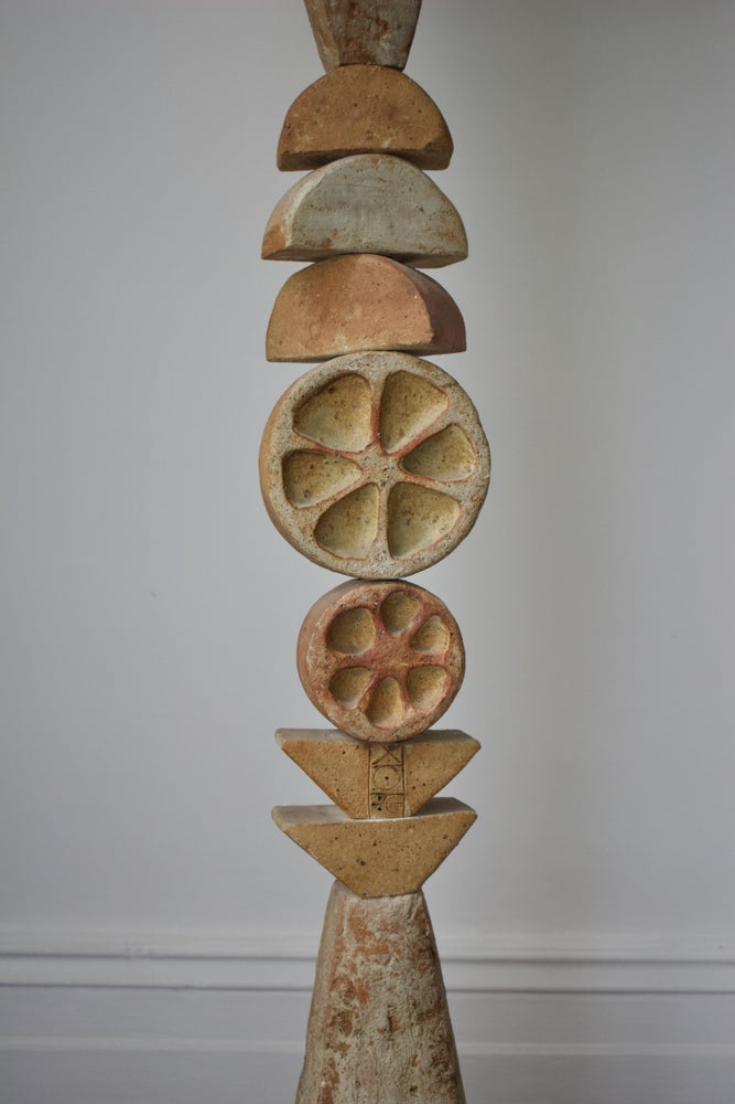 Image of Bernard Rooke Studio Ceramic Totem Floor Lamp