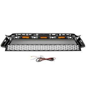 Image of Faux Non OEM TRD Pro Style Grille with Amber Raptor Lights for 2010-2013 Toyota 4Runner