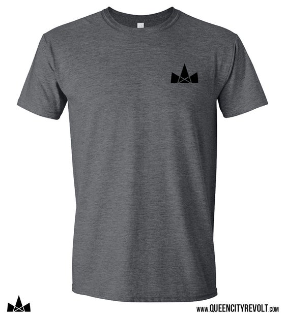 Image of QCR Logo Tee, Dark Grey