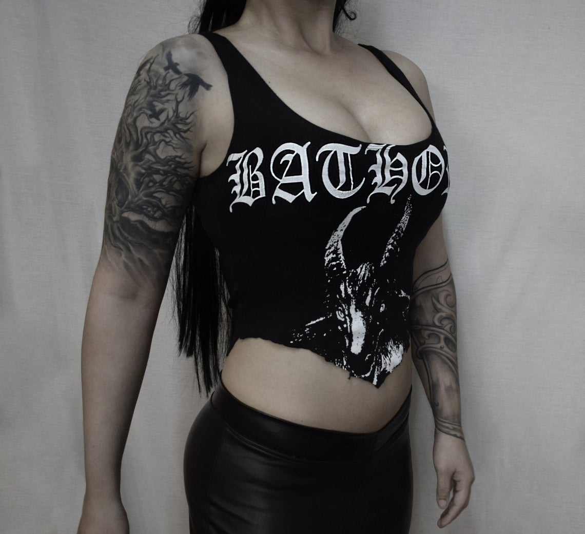 Image of Bathory destroyed top cropped  - FREE SHIPPING