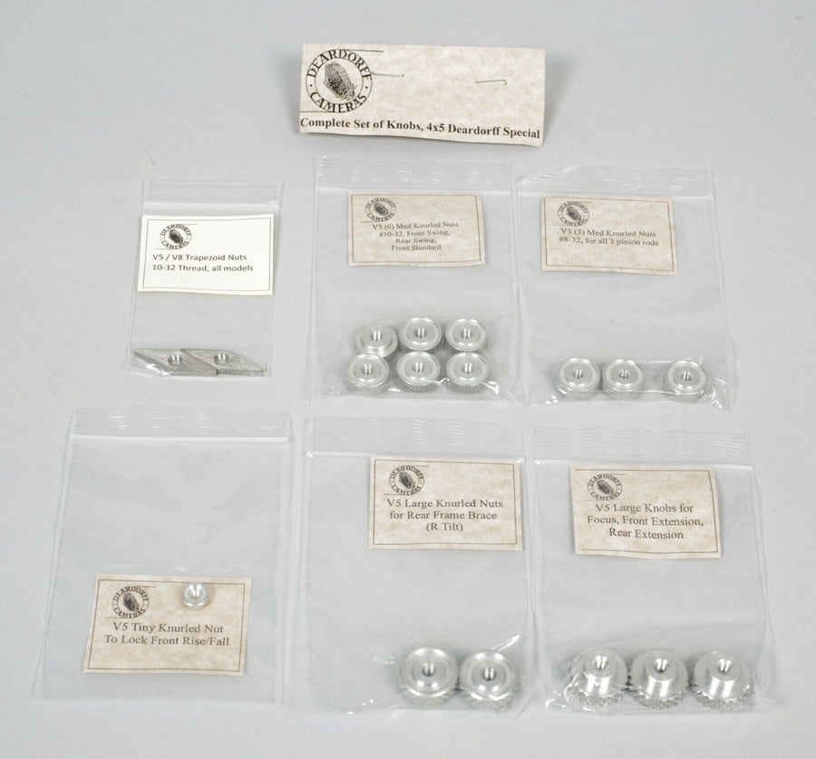 Image of Deardorff V5 5X7 4X5 special Complete Set of Knobs