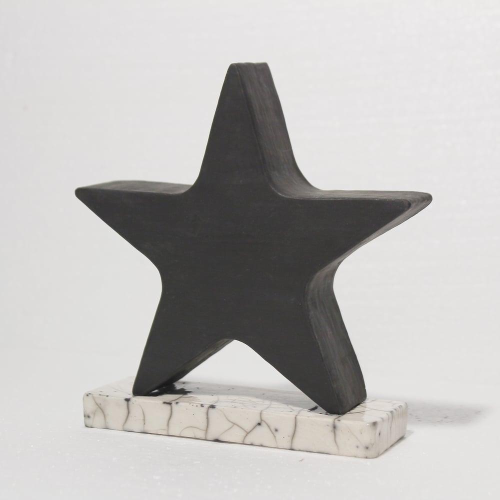 'Blackstar' Sculpture with Raku Base *UK Stock*