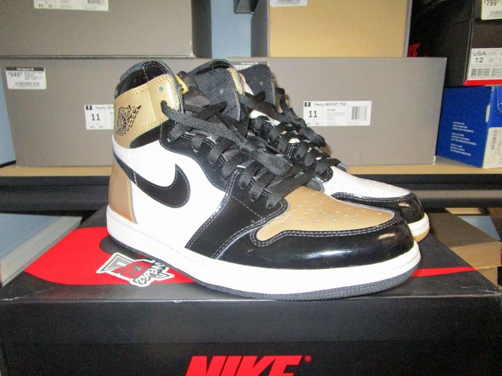 "Image of Air Jordan I (1) Retro High NRG ""Top Three/Gold"" *PRE-OWNED*"