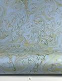 Marbled Paper Gouache on Azure Blue & Claret - 1/2 sheets