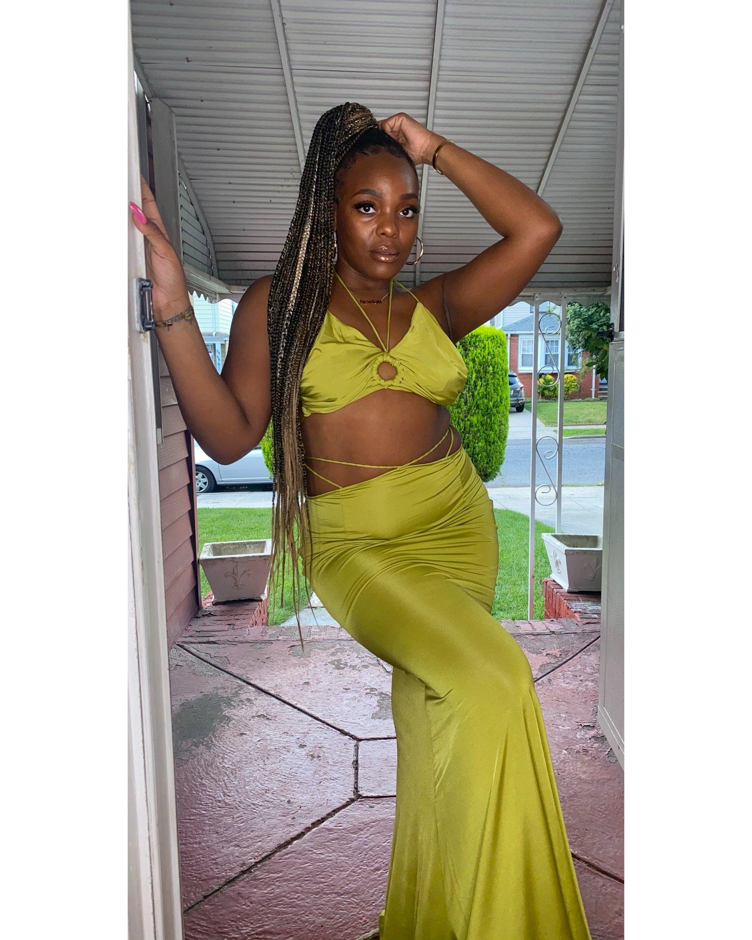"""Image of """"Slime Time"""" skirt set"""