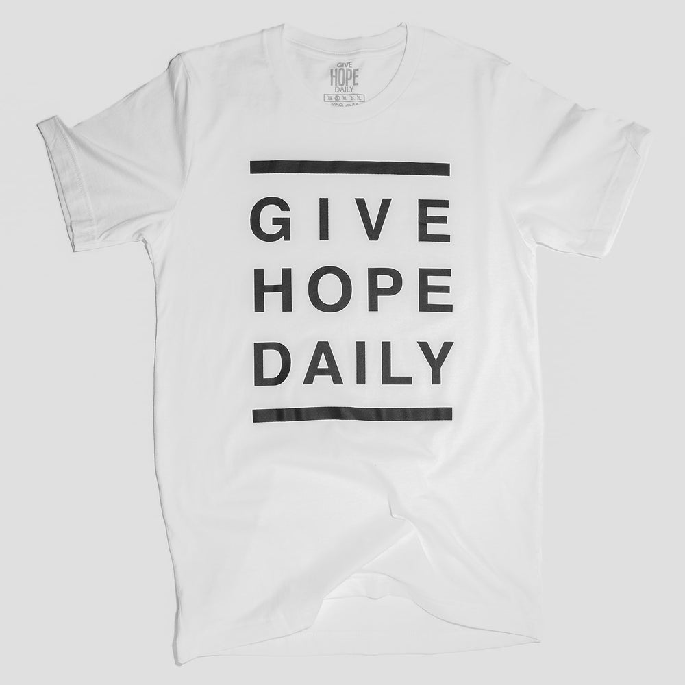 Give Hope Daily - White & Black