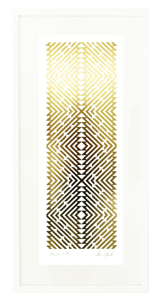 Image of Formation III Limited Edition Gold Foil Screenprint