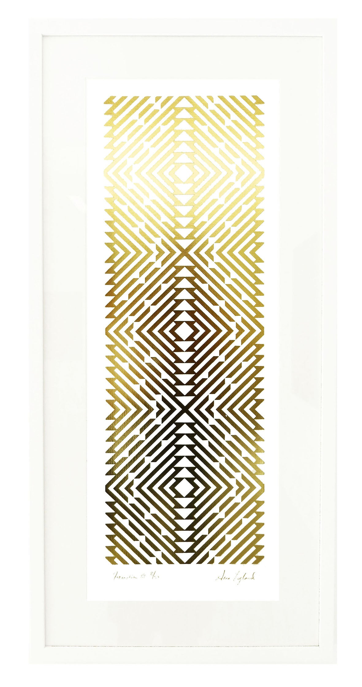 Image of 'Formation III' Limited Edition Gold Foil Screenprint