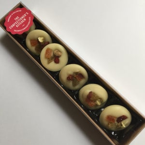 Image of Mendiant - White Chocolate withFruit and Nut morsels