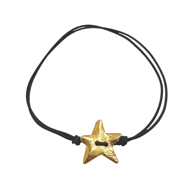 Image of Ziggy star bracelet charm with Cord