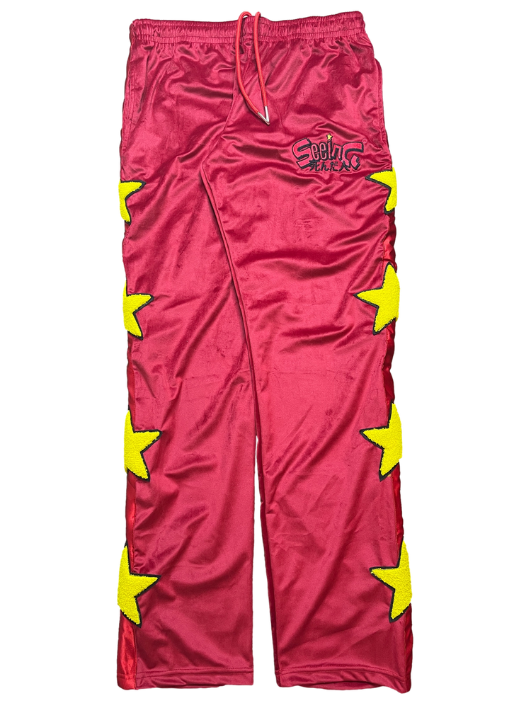 Image of  RED VELOUR GOOD GIRLS GONE BAD TRACKPANTS
