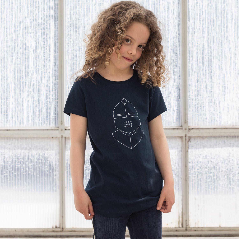 Image of T-SHIRT BOY / GIRL short sleeve KNIGHT navy