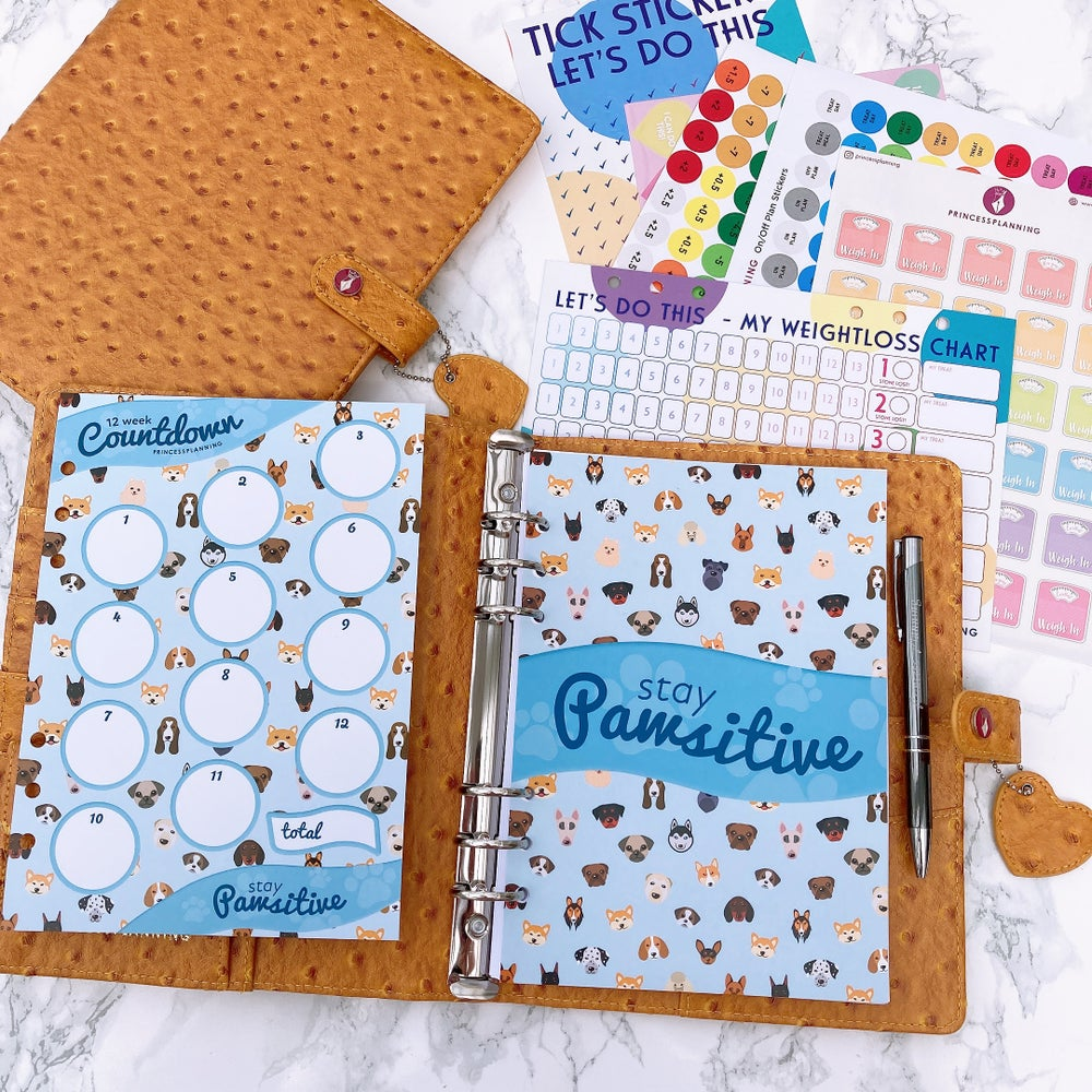 Image of GRANDE PLANNER -HOLLY HONEYCOMB OSTRICH FULLY LOADED FOOD DAIRY  STAY PAWISTIVE