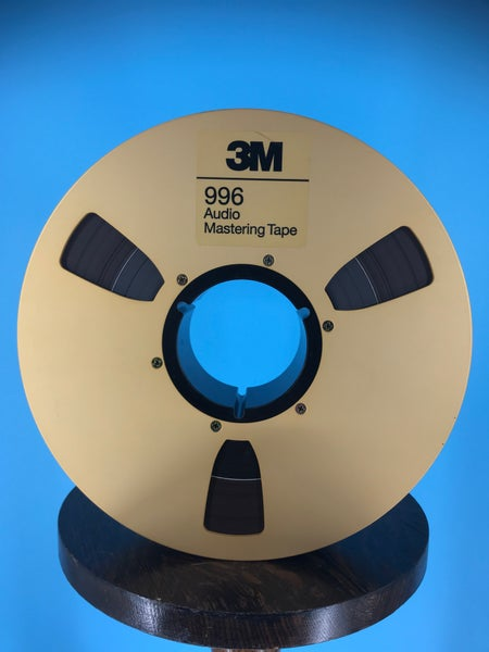 """Image of 3M 996 2"""" x 2500' Reel Tape On 10.5"""" Gold Reel in TapeCare One Pass With Leader-Used"""