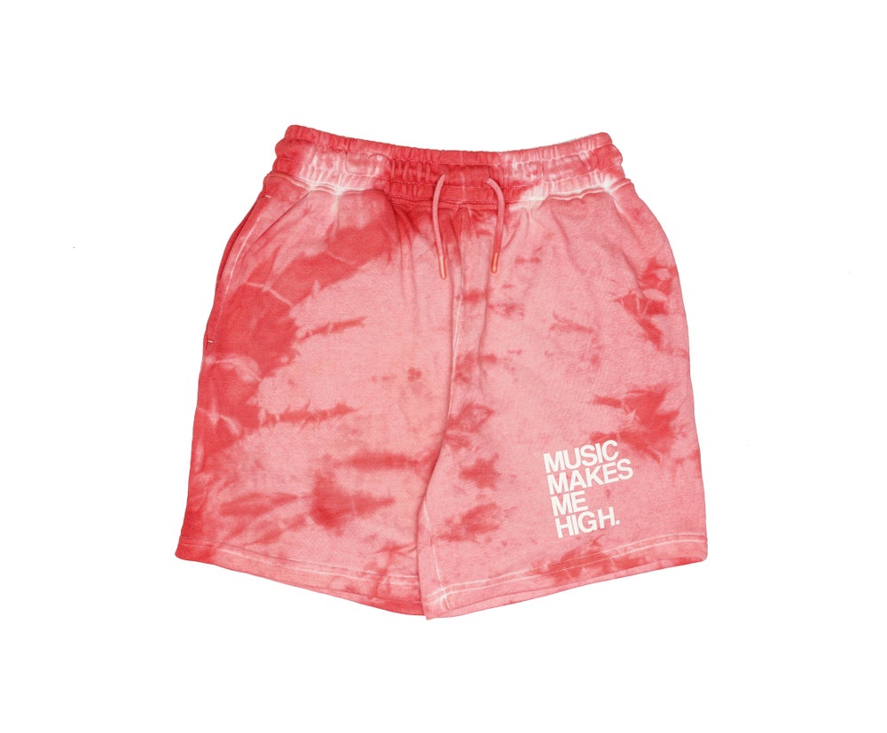 Image of MMMH French Terry Shorts * RED TiE-DYE (unisex)