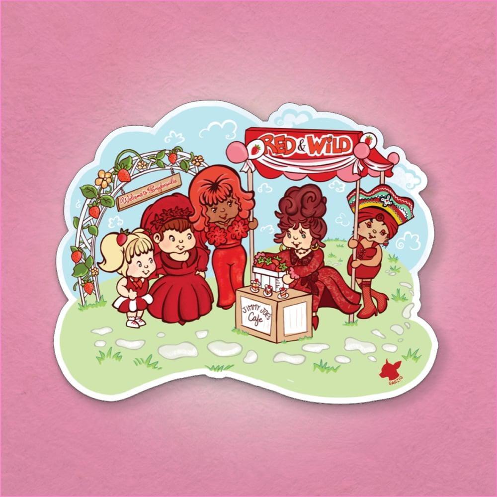 Red & Wild Sticker