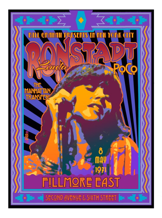 Image of Linda Ronstadt at the Fillmore East May 1971