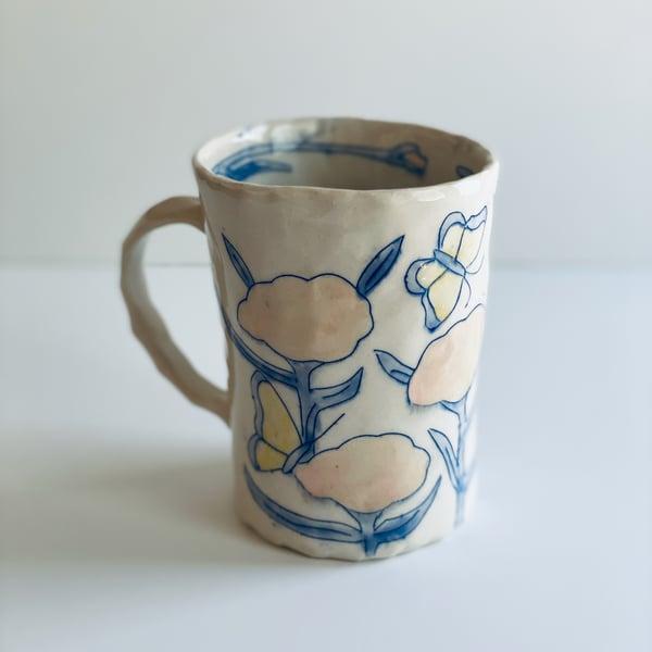 Image of Rose Milkweed and Butterfly Mug