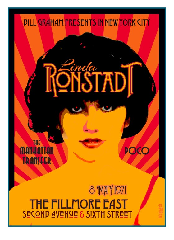 Image of LINDA RONSTADT at the Fillmore East 8 May 1971