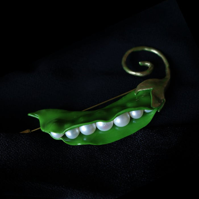Image of Broche petits pois