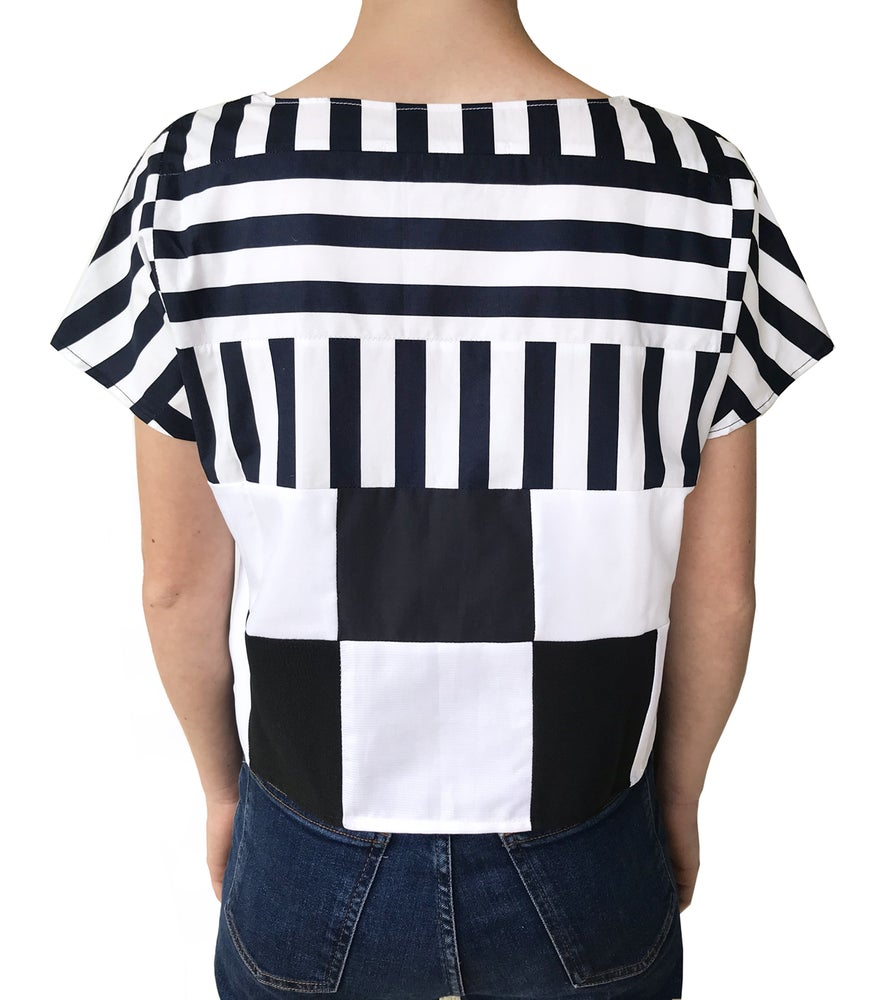 Image of Stripes upcycled crop top