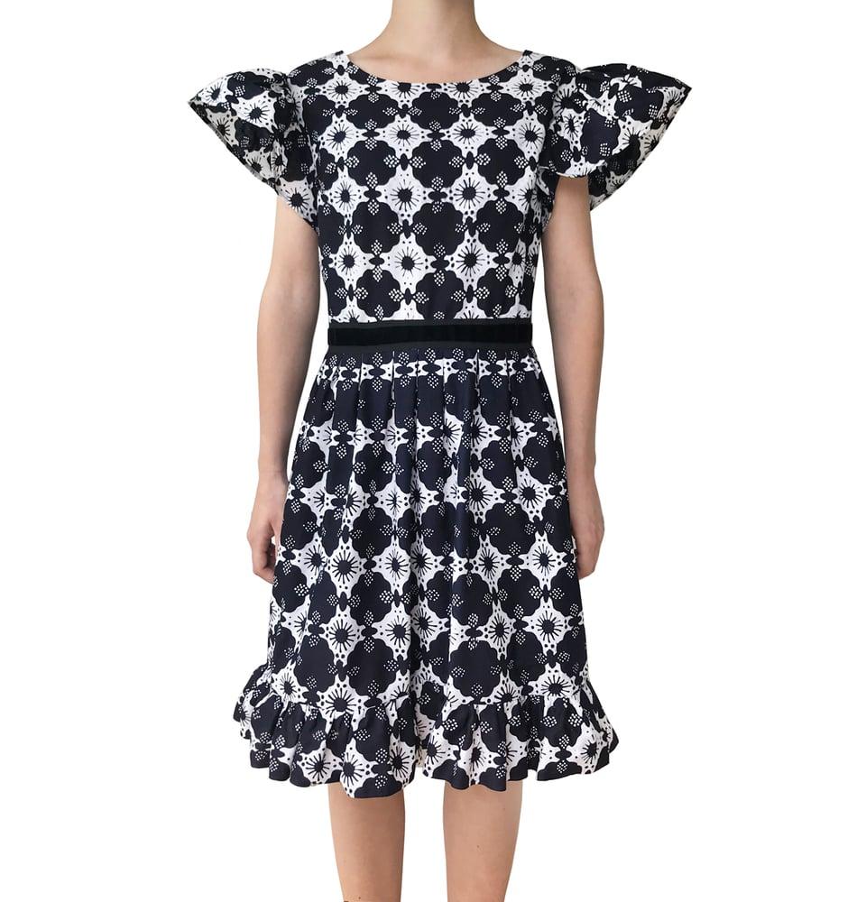 Image of Batik Black & White dress