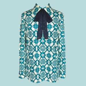 Image of I'll Never Find Another You- Blouse/ Blue Tile