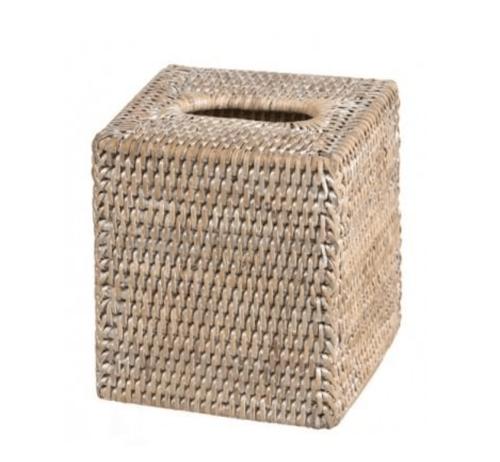 Image of Rattan Tissue Box, old grey