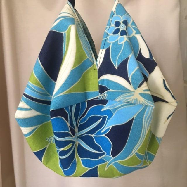 Japanese Origami Bag, Tropical Summer Bag, Shoulder Cross Body Bag