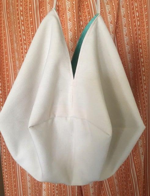 Japanese Origami Bag, Tropical Boho Chic Summer Bag, Shoulder Cross Body Bag